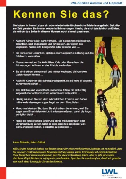 Info-Plakat: Kennen Sie das? - Posttraumatische Belastungsstörung