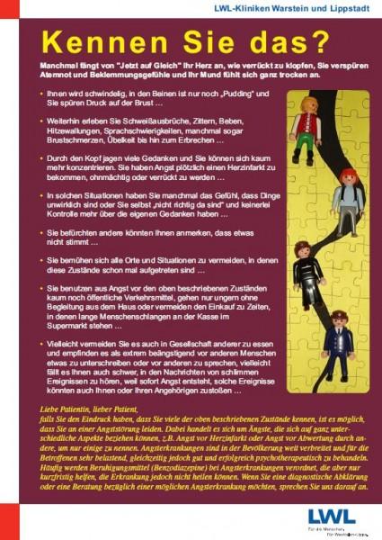 Info-Plakat: Kennen Sie das? - Angststörung